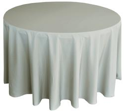 polyester tablecloth in silver