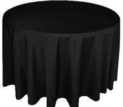 polyester tablecloth in black