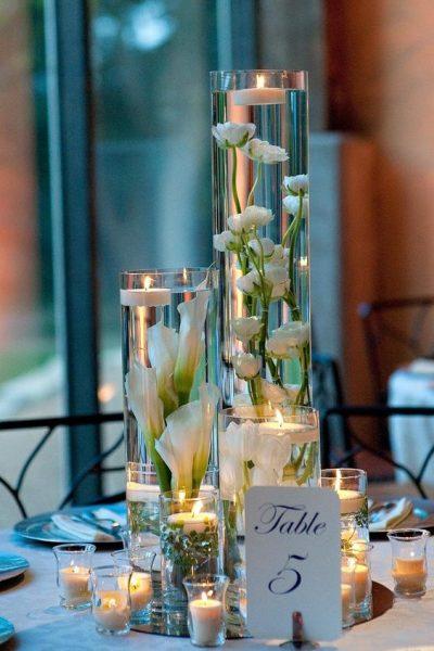 glass vase centerpiece 2