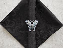 Jacquard Black napkin