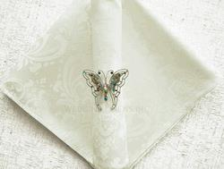 Jacquard Ivory napkin