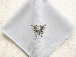 Jaquard White napkin