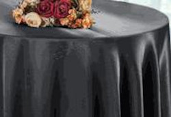 Satin Table cloth Pewter