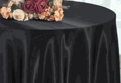 Satin Tablecloth Black