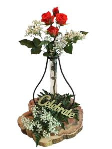 custom centerpiece with roses