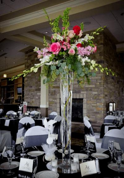 glass vase centerpiece 6