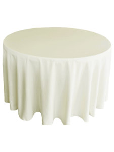 polyester tablecloth in ivory