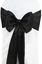 satin sash black