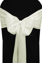 satin sash cream