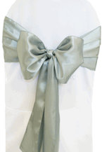 satin sash grey