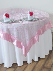 Embroidered Table Overlay