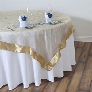 Embroidered Table Overlay gold