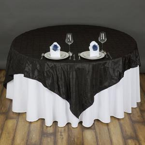 Pintuck Taffeta Overlay black
