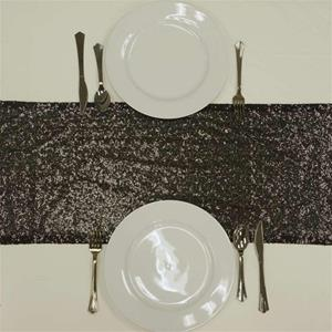 Sequin Table Runners black