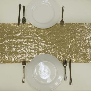 Sequin Table Runners gold