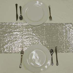 Sequin Table Runners silver