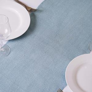 Burlap Table Runners blue
