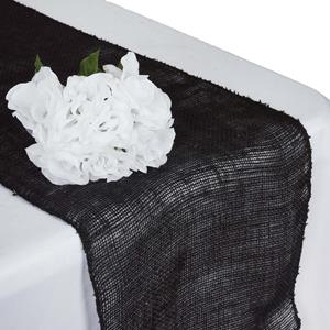 Burlap Table Runners black