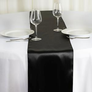 Satin Table Runners black