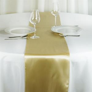 Satin Table Runners gold
