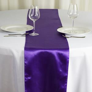 Satin Table Runners purple