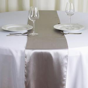 Satin Table Runners silver